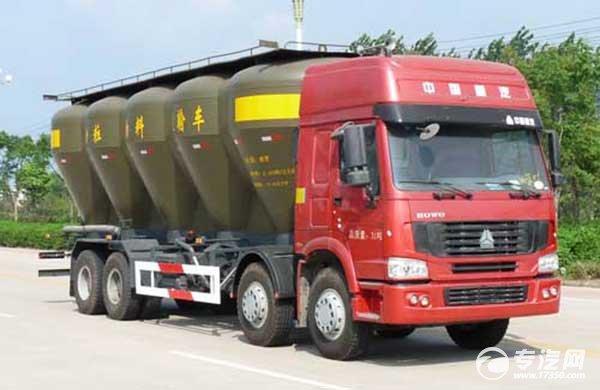 粉粒物料运输车不同用法选购不同罐体型式