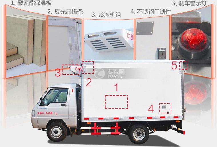 冷藏车细节图展示