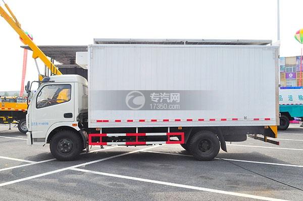 东风多利卡国五冷藏车左侧图