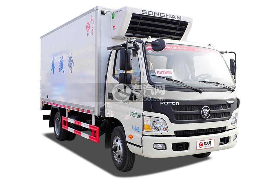 福田欧马可国五冷藏车