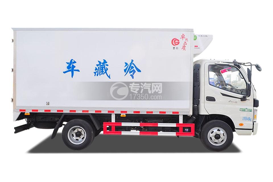 福田欧马可国五冷藏车3