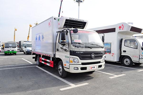 福田欧马可国五冷藏车方位图2