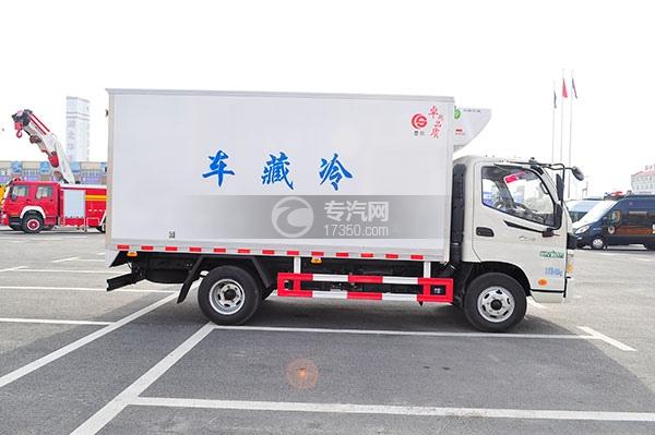 福田欧马可国五冷藏车方位图3