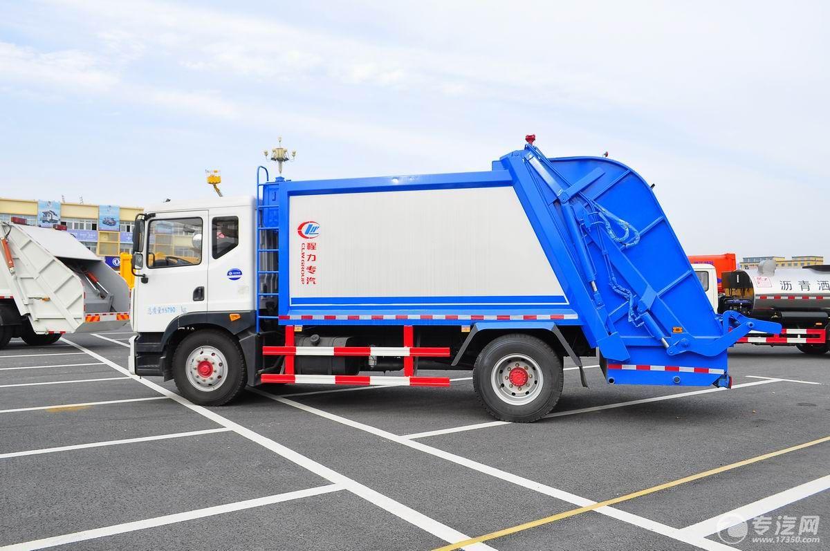 东风多利卡D9压缩式垃圾车左侧面图