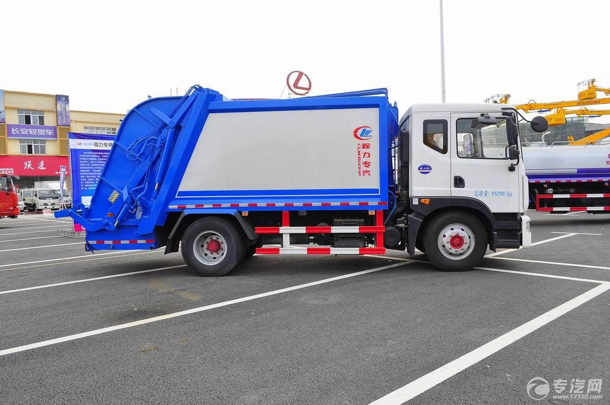 东风多利卡D9压缩式垃圾车右侧面图