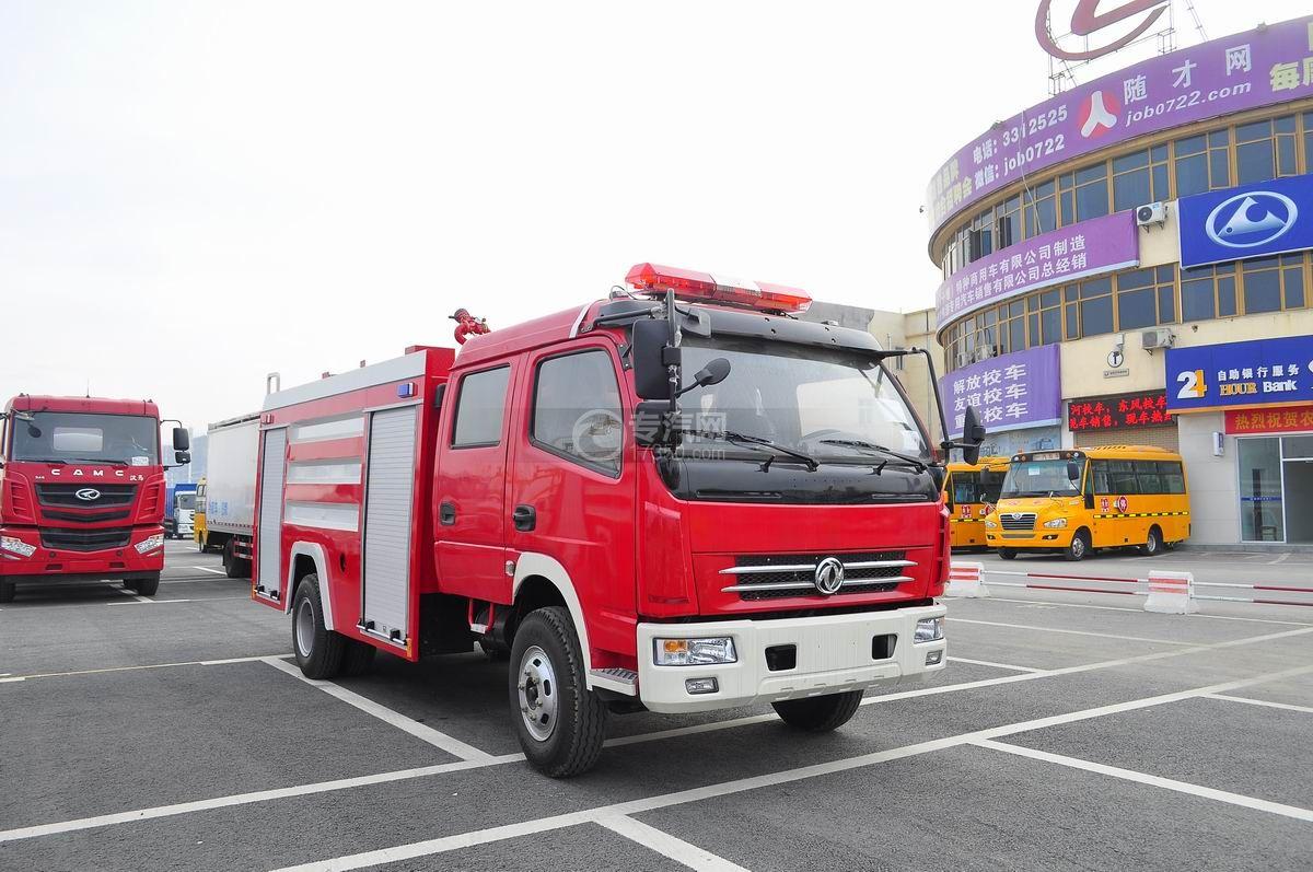 东风多利卡消防车右侧面45°图