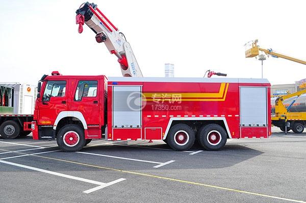 重汽豪沃后双桥消防车方位图3