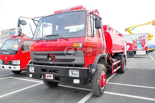 东风145消防车带水罐方位图1