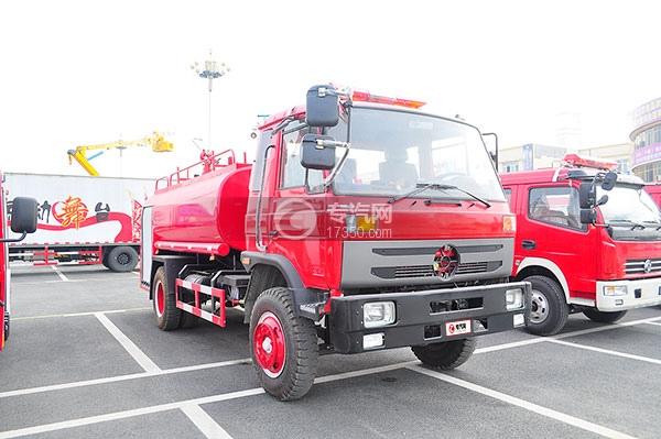 东风145消防车带水罐方位图3