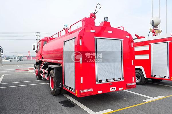 东风145消防车带水罐方位图4