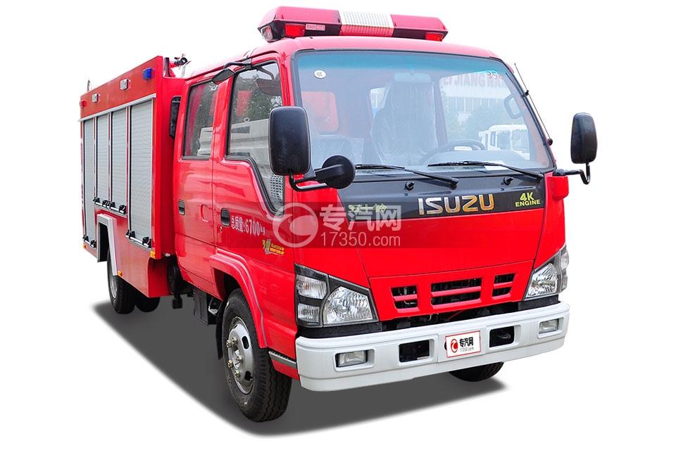 五十铃水罐消防车1