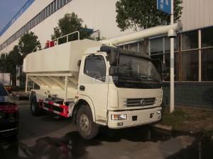 东风多利卡6吨散装饲料运输车图片