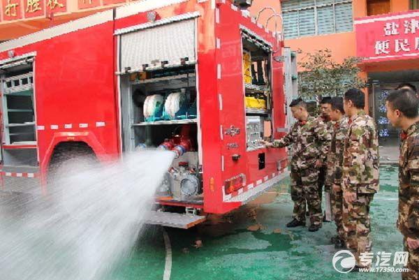 城市主战消防车落户盐津 为消防史谱写重重一笔