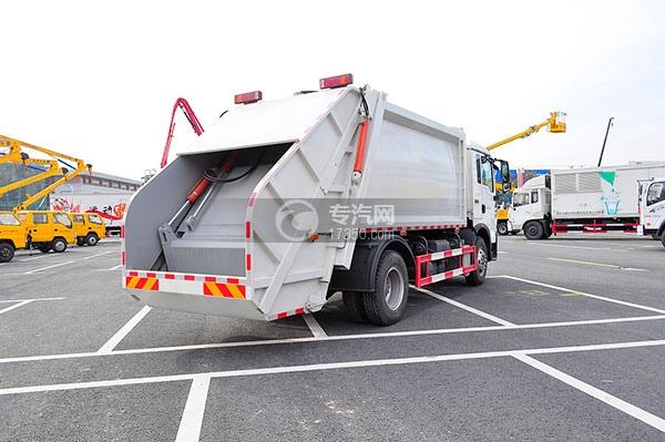 重汽豪沃单桥12方压缩式垃圾车方位图4