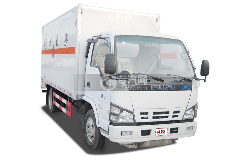 庆铃五十铃600P易燃气体厢式运输车