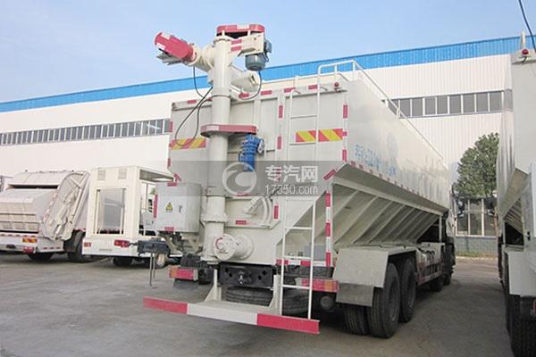 东风天龙20吨散装饲料运输车方位图3