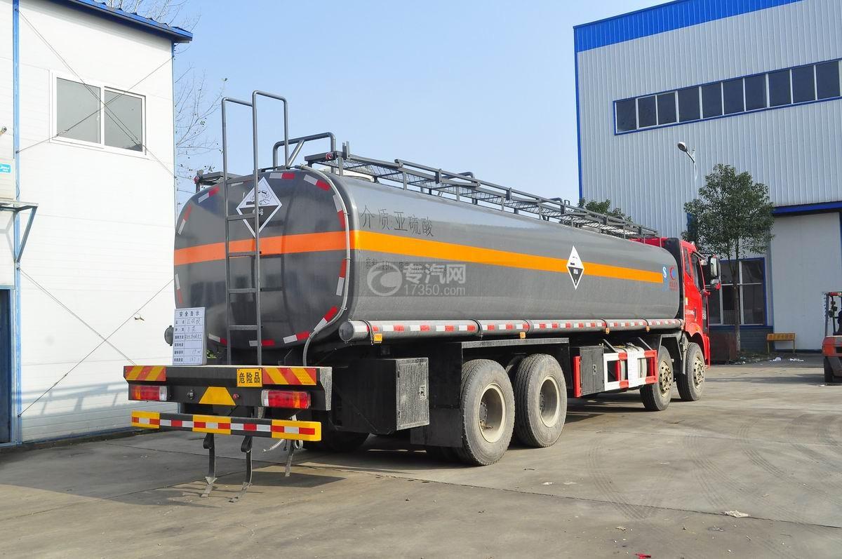 解放J6前四后八腐蚀性物品罐式运输车右后45°图