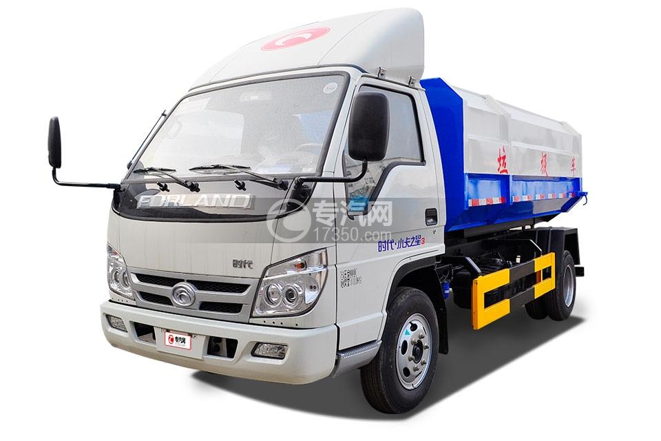 福田时代小卡之星3挂桶式垃圾车