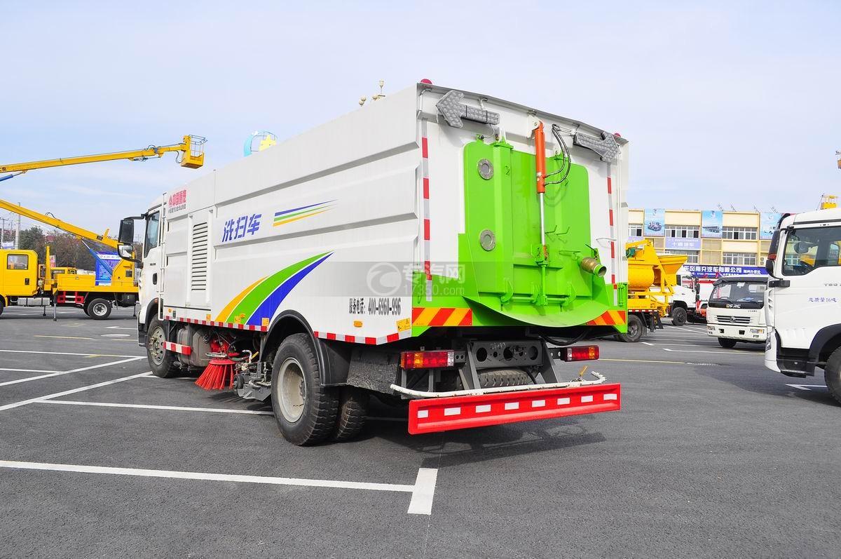 重汽豪沃T5G 210 单桥洗扫车左后45°图