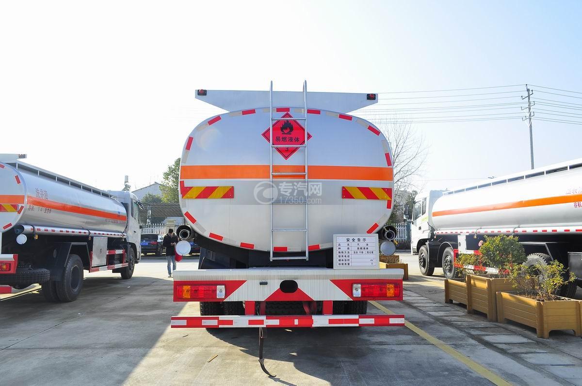 一汽解放前四后八23.5方运油车后面图