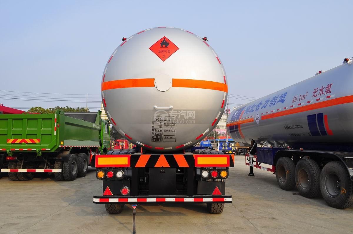 59.73方液化石油气体(丙烷)运输半挂车后面图