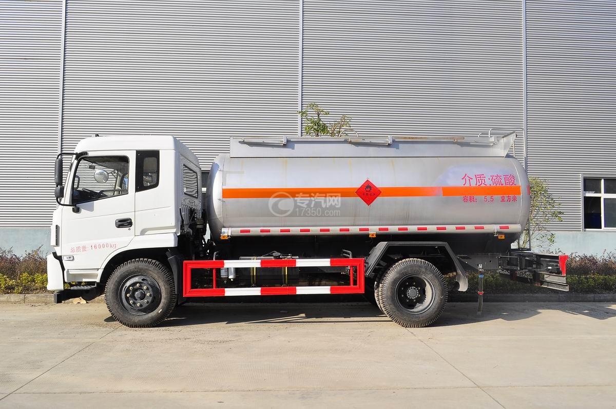 东风特商5.5方易燃液体罐式运输车左侧图