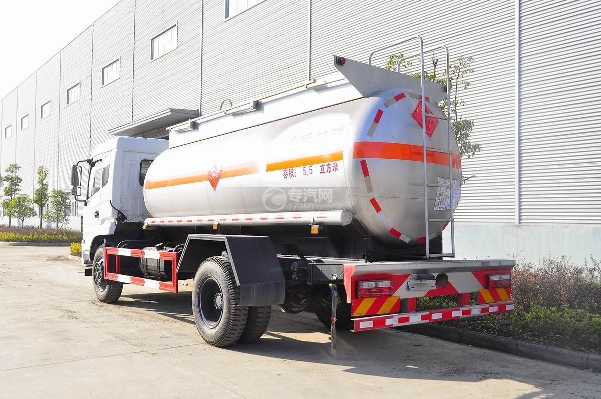 东风特商5.5方易燃液体罐式运输车左后图