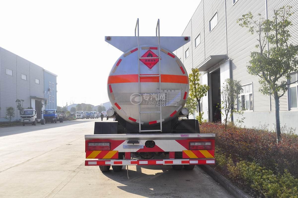 东风特商5.5方易燃液体罐式运输车后面图