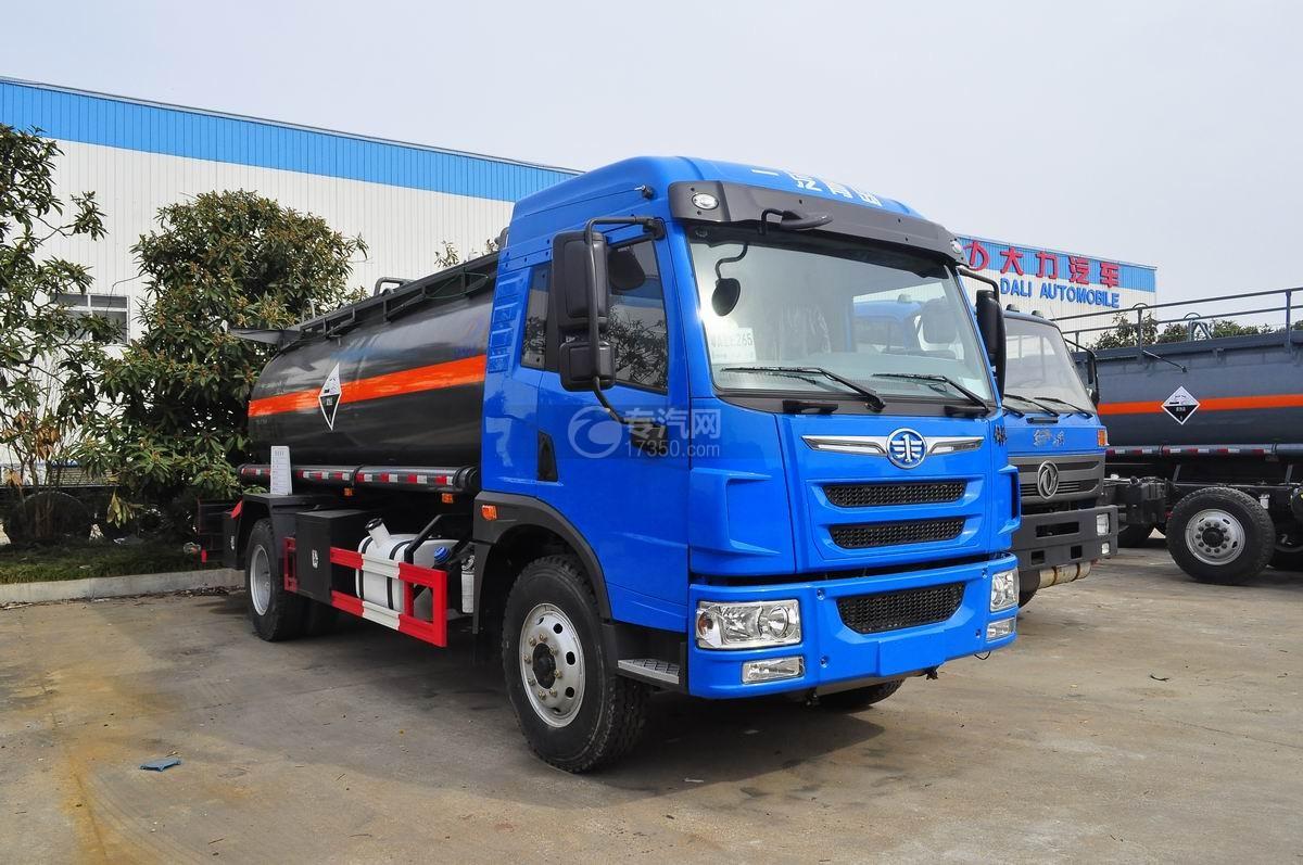 解放龙V9.2方腐蚀性物品罐式运输车