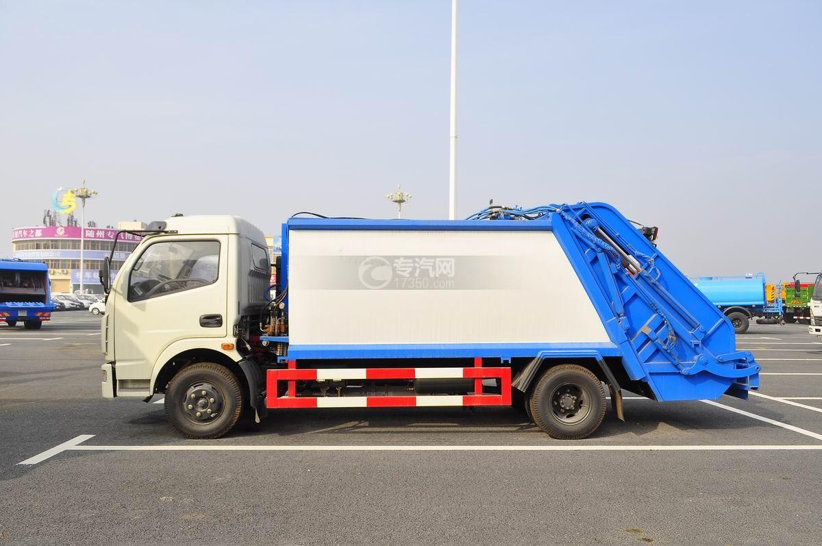 东风多利卡压缩式垃圾车左侧面图