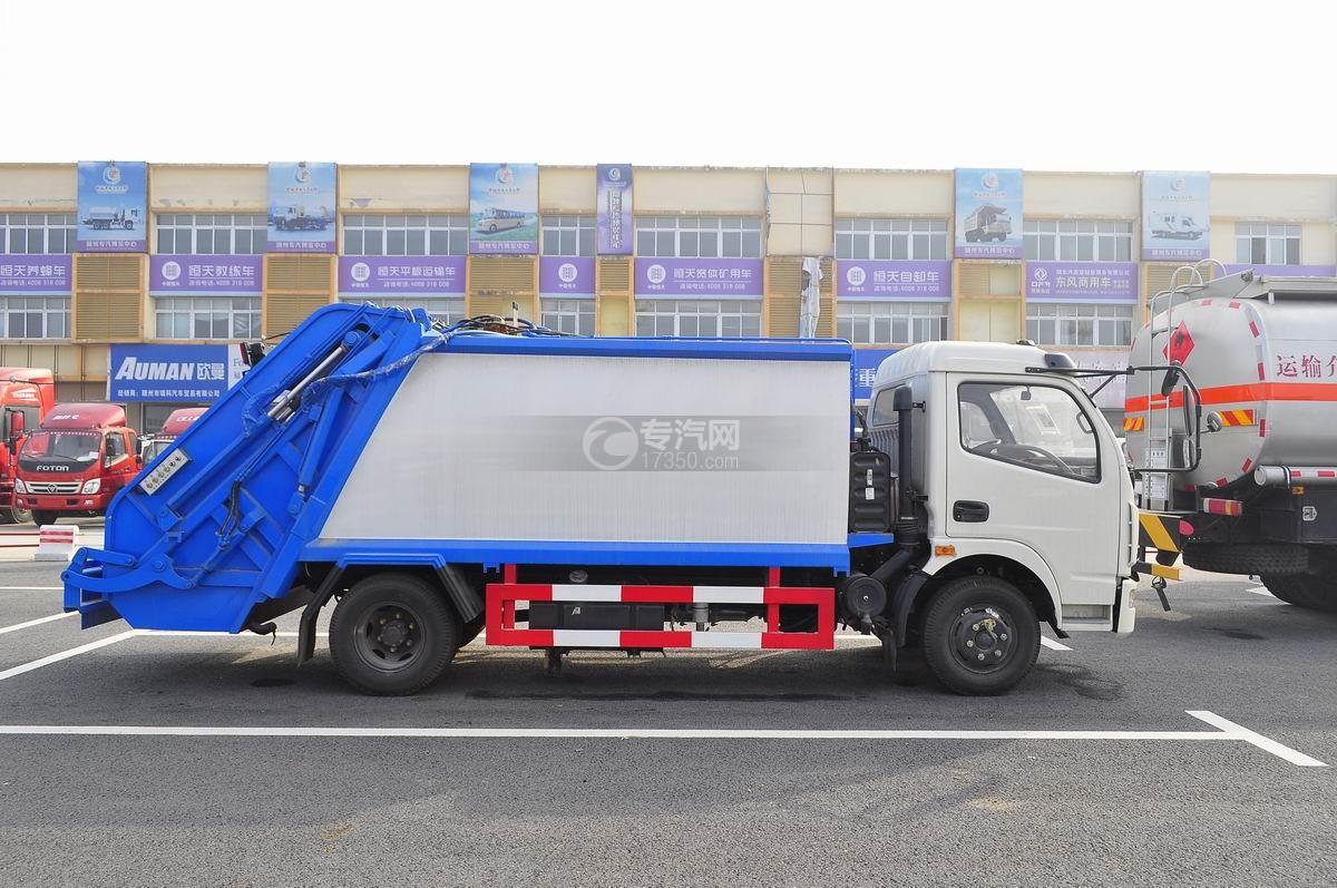 东风多利卡压缩式垃圾车右侧面图