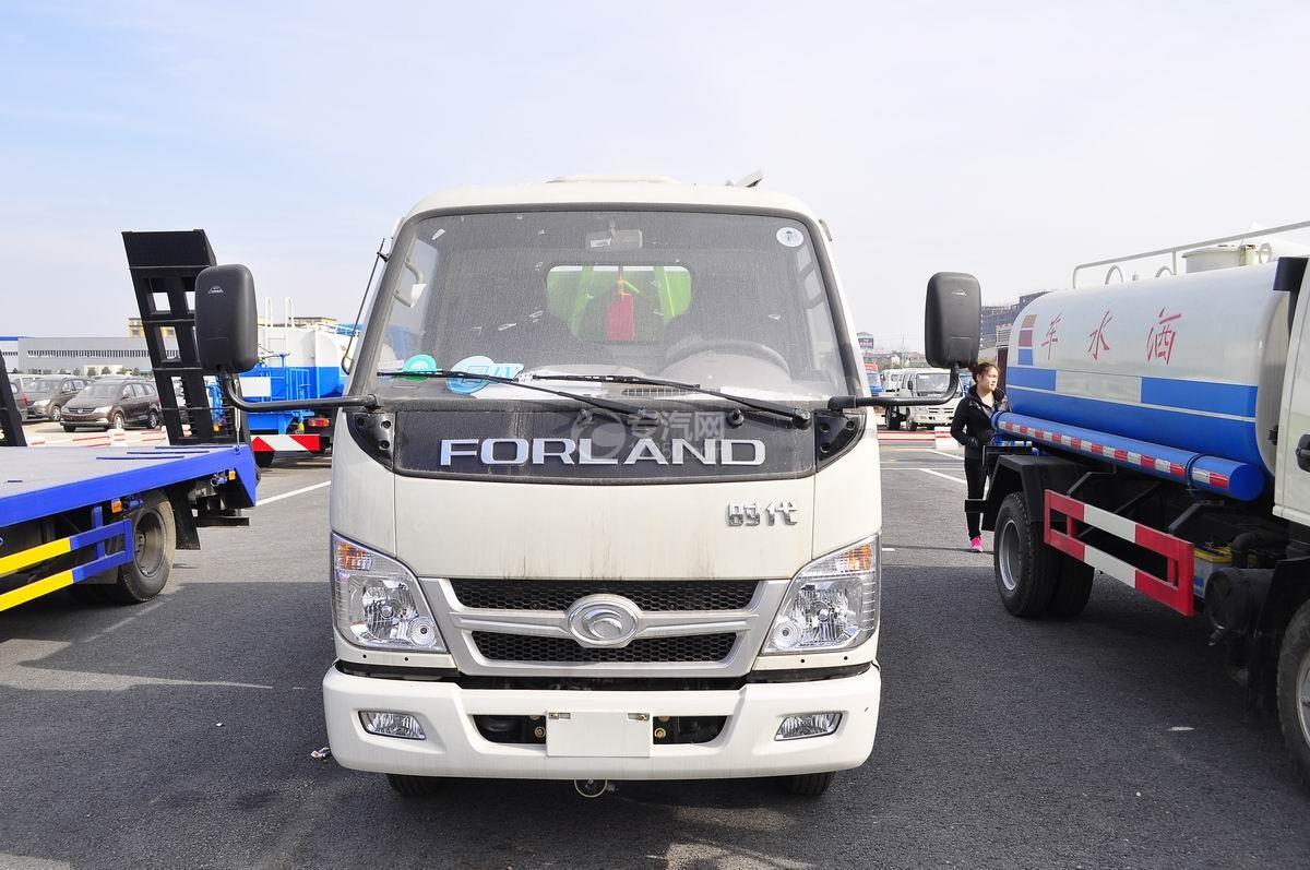 福田时代车厢可卸式垃圾车正面图