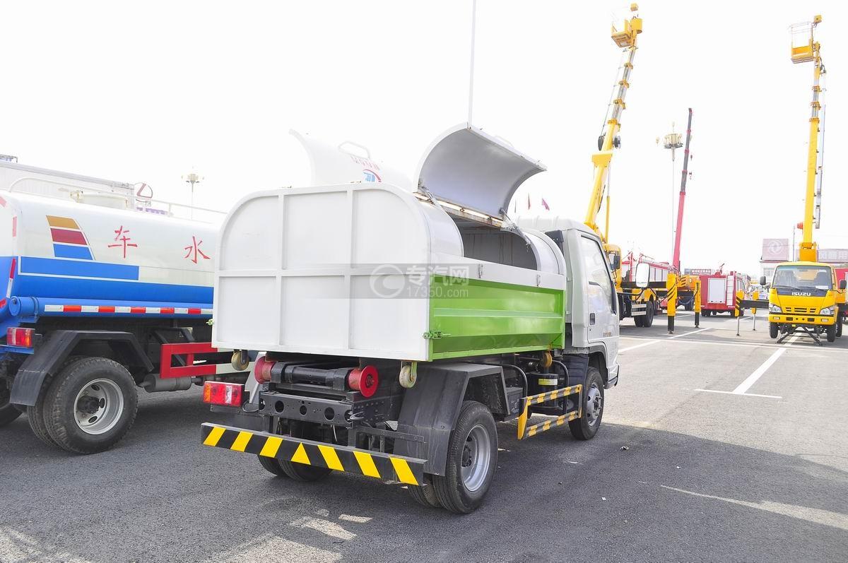 福田时代车厢可卸式垃圾车右后45°图