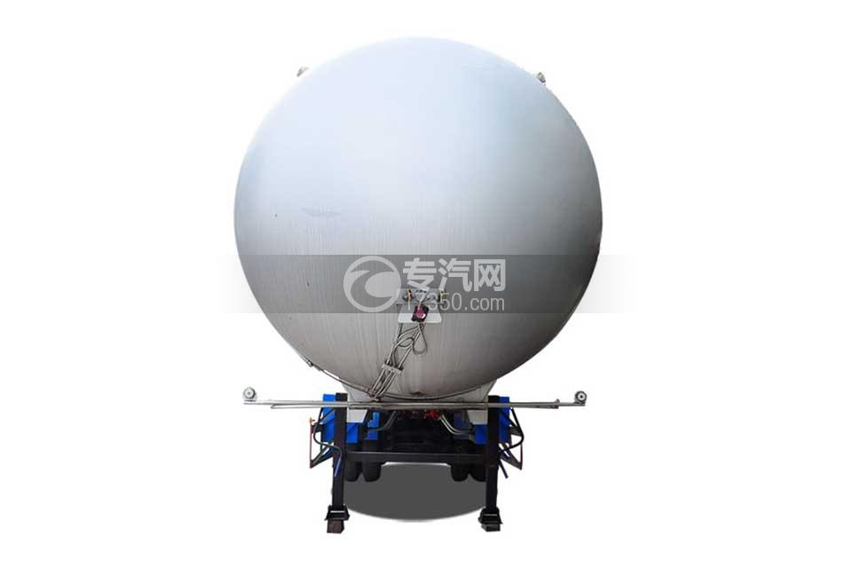 49.4方液化气体运输半挂车正面图