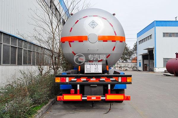 49.4方液化气体运输半挂车后面图