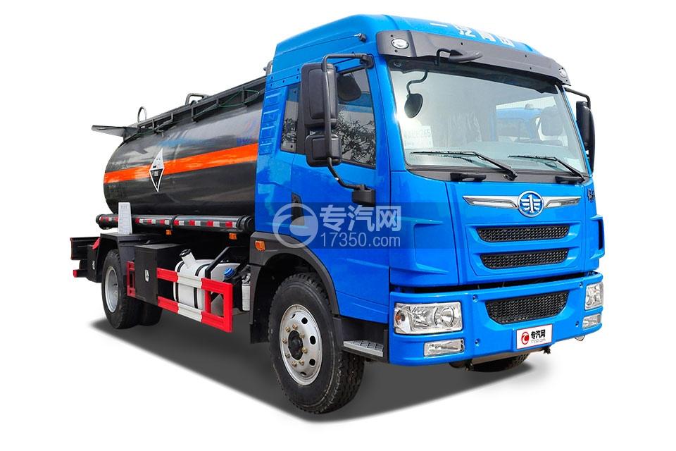 解放龙V国五15.1方腐蚀性物品罐式运输车