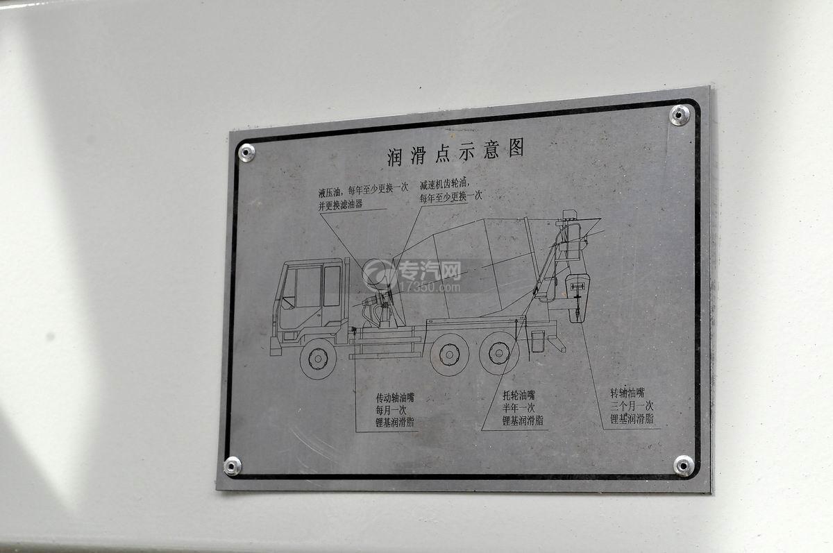 东风神宇御虎3.47方搅拌车润滑点示意图