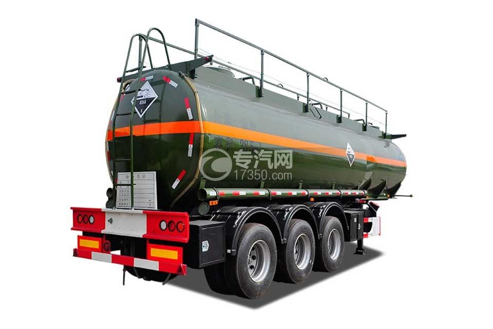 28.5方腐蚀性物品罐式运输半挂车右后图