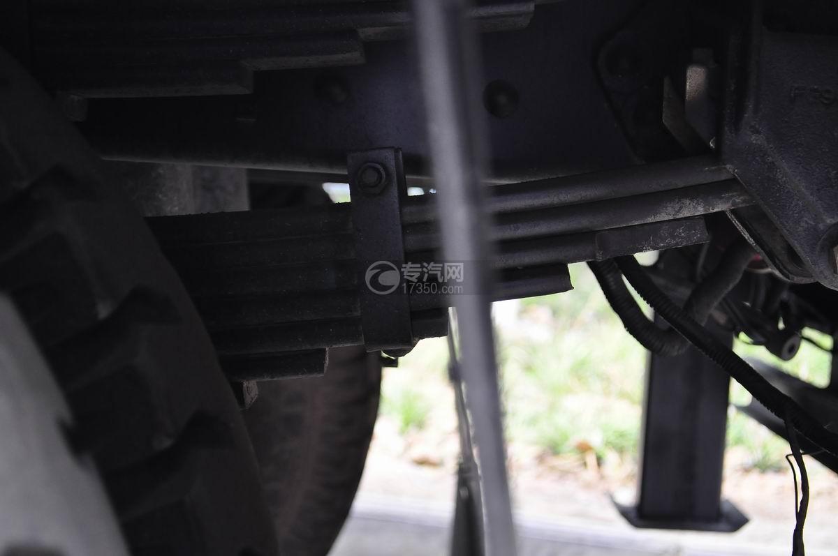 重汽豪曼单桥平板运输车弹簧钢板