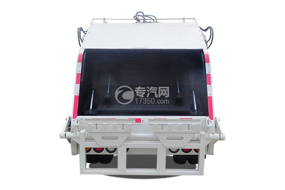 东风福瑞卡压缩式垃圾车后面图