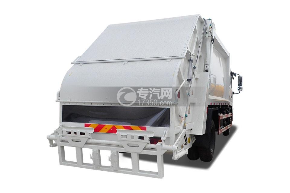 东风天锦压缩式垃圾车右后45°图