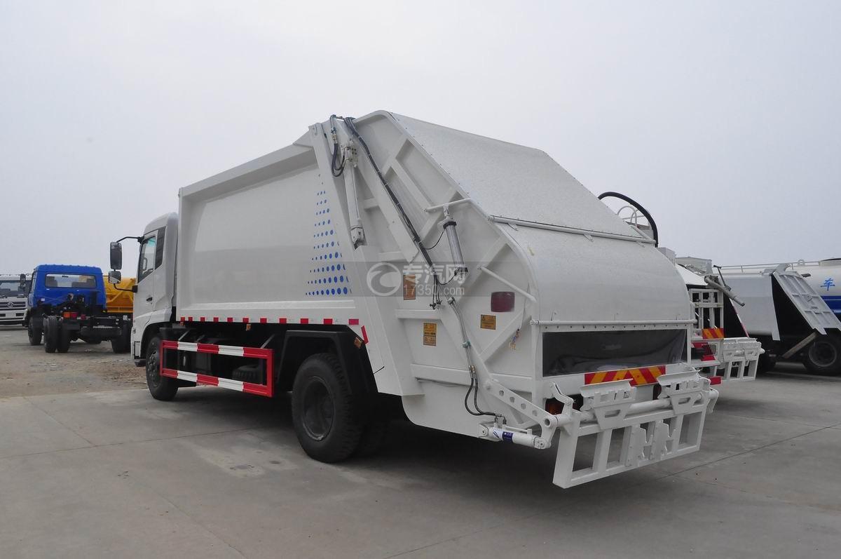 东风天锦压缩式垃圾车左后45°图