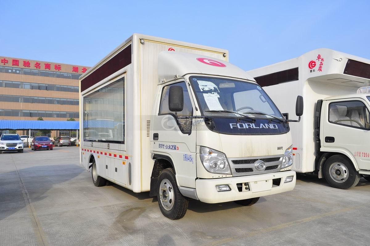 福田时代小卡之星3LED广告车右侧面45°图