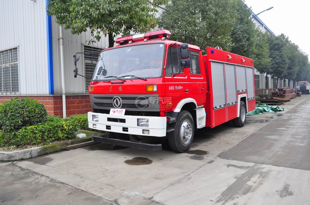 东风153水罐消防车图片