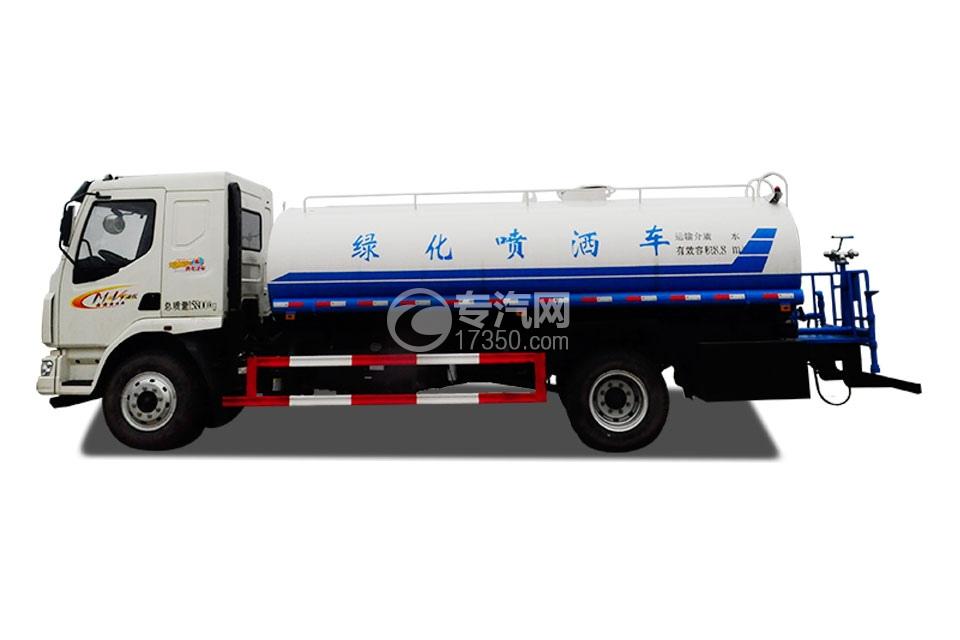 东风柳汽乘龙国五11方洒水车左侧图