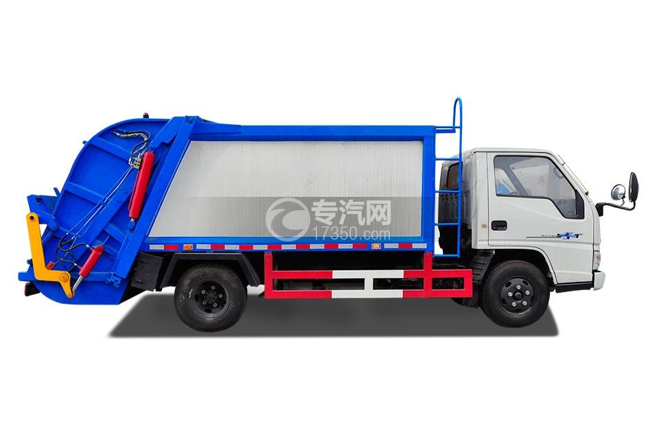 江铃顺达压缩式垃圾车右侧面图