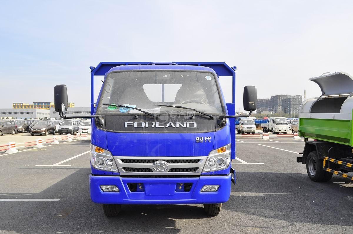 福田时代中驰D2平板运输车正面图