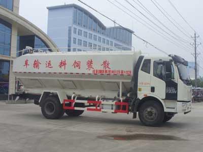解放J6 20方散装饲料运输车