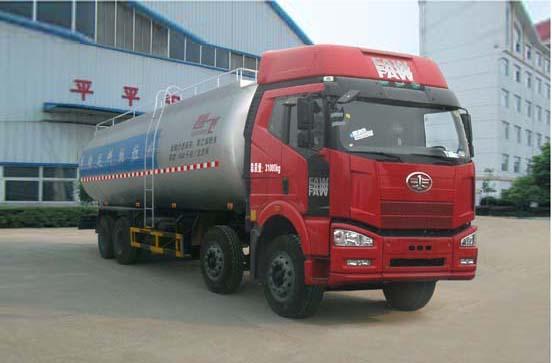 解放J6P前四后八国五35.2方粉粒物料运输车