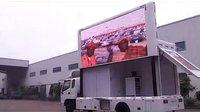 led移动广告车效果视频